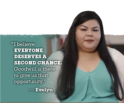 Evelyn on Goodwill Provides Second Chances